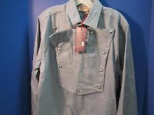 OLD WEST SILVERADO MINING CO. REENACTING CAVALRY STYLE BIB SHIRT 100% WOOL LARGE
