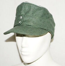 WWII GERMAN WH OFFICER M43 PANZER WOOL FIELD CAP L -31734