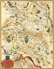 Reproduction carte ancienne - Barrois XVIIè