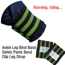 2 Pcs Bike Bicycle Reflective Ankle Leg Bind Wrist Safety Band Pants Clip Strap