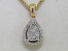 Brillant Anhänger 585 Gelbgold 14Kt Gold 33 Brillanten total 0,25ct Wesselton