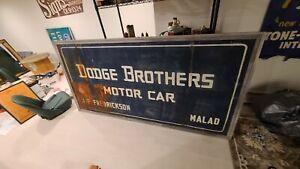 Dodge brothers smaltz sign 1930s ORIGINAL 4X8 FEET man cave