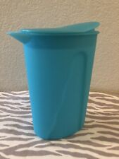 Tupperware Small Impressions Pitcher 1 Liter 4 Cups Aqua w/ Glitter New