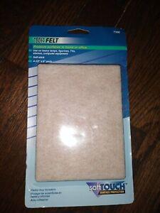 """Super Sliders 3-1/2 x 6"""" Rectangle Self Stick Felt Pad Beige, ( 2 Pack )"""