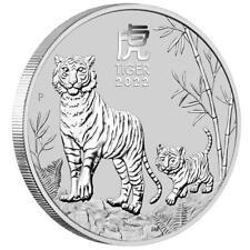 Australien - 50 Cents 2022 - Jahr des Tigers (3.) Lunar III. - 1/2 Oz Silber ST