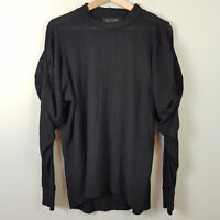 DECJUBA | Womens Chelsey Knot Sleeve Black Top [ Size L or AU 14 or US 10 ]