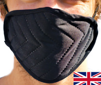 3 Layer Protective Black Face Mask Breathable Mouth Washable Protection UK Stock