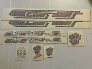 MTB GT LTS 1 decal set  RTS Originals  red/white