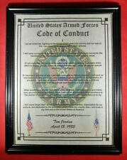 Mc-Nice: Armed Forces Code of Conduct Army Framed Personalized