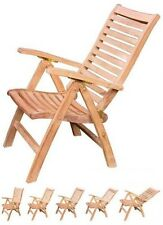 RECLINING CHAIR A+ GRADE TEAK GARDEN OUTDOOR FURNITURE PATIO - ASH COLLECTION