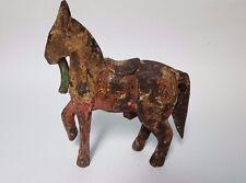 "Primitive Horse Wooden Vintage Wood Horse 6.5"""