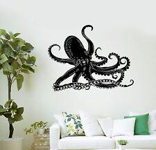 Wall Decal Octopus Kraken Marine Animals Bathroom Art Vinyl Stickers (ig3005)