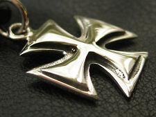 Eisernes Kreuz 925'er Silber Ketten Anhänger Malteserkreuz   / KA 107