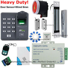USA ZKTeco Fingerprint+RFID Card Door Access Control+ Magnetic Lock+ Bell+Remote