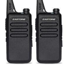 2pcs Zastone ZT-X6 UHF 400-470 MHz 16 channels Walkie Talkie Mini portable Radio