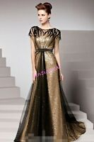 Womens Evening Dress Bride Prom Gown Lace Formal  Long Party Cocktail Maxi Dress