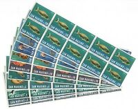 S34733 Dealer Stock San Marino 1966 MNH Fish Fishes 10v (X10 Sets)