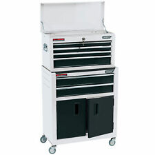 "Draper 24"" Combined Roller Cabinet and Tool Chest (6 Drawer) in White"