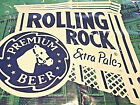 """AS IS 72"""" x 36"""" Vintage ROLLING ROCK Extra Pale BEER Latrobe Plastic BANNER"""
