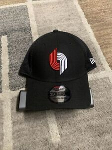 Portland Trail Blazers Men's New Era 39THIRTY M/L Cap Hat Black/Red/White