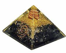 Extra Large Black Tourmaline Orgonite (50-55mm) Orgone Gemstone Pyramid X-large