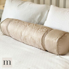 Luxury XL / Large French Floral Filled Bolster Roll Cushions Hotel Ivory / Pink