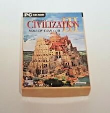 Civilization lII 3 By Sid Meier & Microprose Big Box PC Game - Booklet & Disc