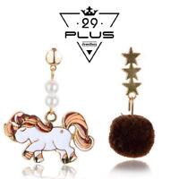 New Women Asymmetrical Unicorn Kids Girls Ear Stud Earrings Jewelry Gift Party