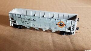 NS3 N Scale Car Micro Train Couplers HOPPER D&RGW RIO GRANDE cust paint 10981