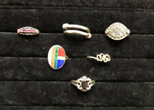 Lot of 6 Sterling Silver Rings - All Sized 6 - 6.5 Women's Rings