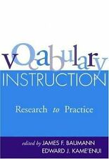 Vocabulary Instruction: Research to Practice (Solving Problems In Teaching Of