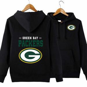 Green Bay Packers Football Hoodie Pullover Hooded Sweatshirt Casual Jacket