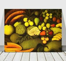 "HENRI ROUSSEAU - Fruit - CANVAS ART PRINT POSTER - Banana Pear Papaya 18x12"""