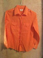 Lands' End Canvas size 4 button up & roll up sleeve Polka-Dot blouse shirt u