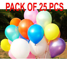 25 BALLOONS - 30 METER Birthday Wedding Baby Shower Party Latex ALL Balloons 10""