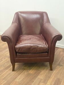 Laura Ashley Antique Style Leather Armchair