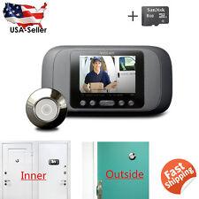 "2.8"" LCD Visual Monitor Door Peephole Peep Hole Wireless Viewer Camera Video"