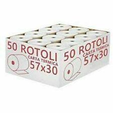 ROTOLI TERMICI MM 57X30 CARTA TERMICA OMOLOGATI REGISTRATORE CASSA pz. 10