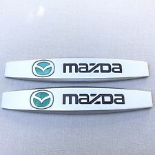 NEW (2pc) MAZDA LOGO FENDER DOOR METAL EMBLEM NAMEPLATE BADGE EM125