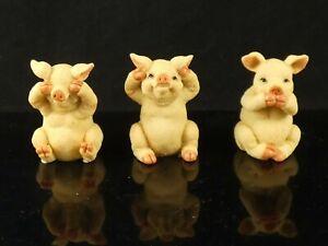 Leonardo Collectable Pigs Hear No Evil See No Evil Speak No Evil