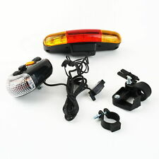 7 LED Bicycle Bike Turn Signal Directional Brake Light Lamp 8 sound Horn S3 USA