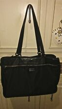 Designer TUMI Black Nylon Leather Soft Business Briefcase Satchel Tote Bag