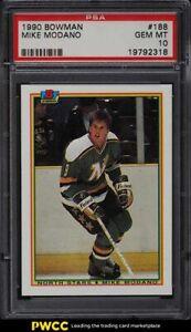 1990 Bowman Mike Modano ROOKIE RC #188 PSA 10 GEM MINT