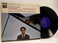 GELBER shumann carnival & etudes symphoniques LP EX/VG, SXLP 20108, vinyl, 1968,