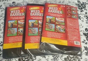 All-Purpose Weed Barrier Fabric 4x8 ft Black New Lot of 3