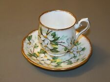 Royal Albert White Dogwood Demitasse Cup And Saucer
