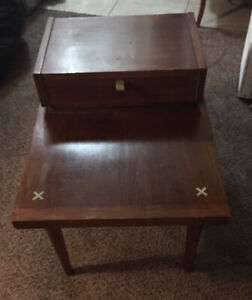 American Of Martinsville Walnut End Table Mid Century Modern Merton Gershun
