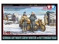 Tamiya 1/48 German Luftwaffe Crew (Winter) with Kettenkraftrad # 32412