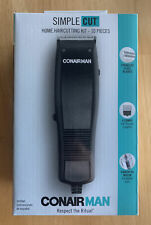 Conair Man Simple Cut Corded Hair Clippers Home Haircutting Kit, 10-Pieces New