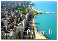 Skyline of Downtown Chicago IL. Souvenir 2 x 3 Locker Fridge Magnet ILCH33
